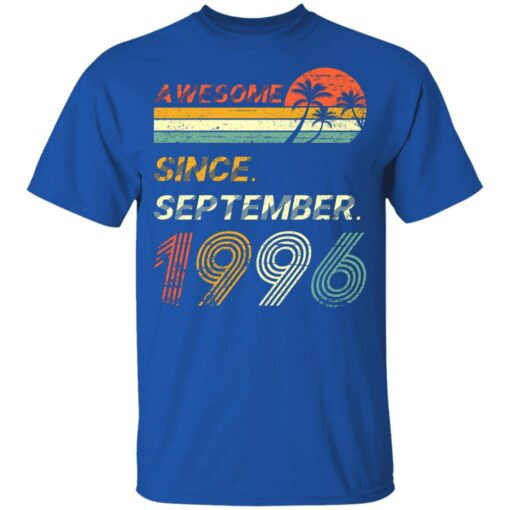 25th Birthday Vintage Awesome Since September 1996 25 Years T-Shirt T-Shirt 12 of Sapelle