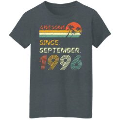 25th Birthday Vintage Awesome Since September 1996 25 Years T-Shirt T-Shirt 43 of Sapelle