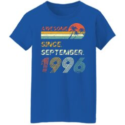 25th Birthday Vintage Awesome Since September 1996 25 Years T-Shirt T-Shirt 51 of Sapelle