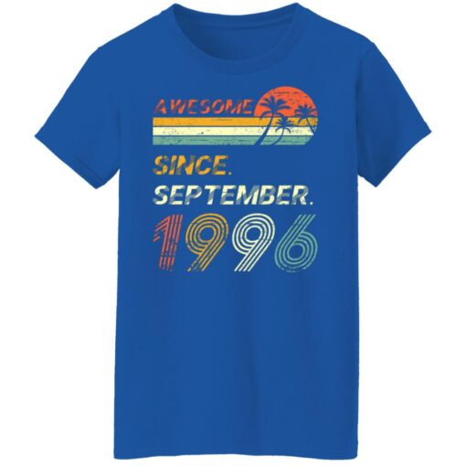 25th Birthday Vintage Awesome Since September 1996 25 Years T-Shirt T-Shirt 18 of Sapelle