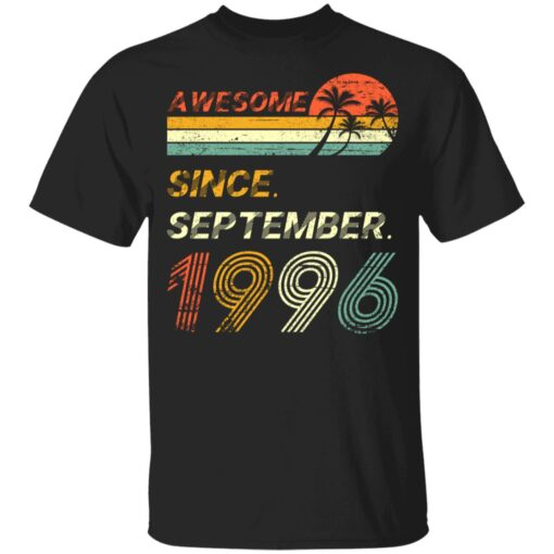 25th Birthday Vintage Awesome Since September 1996 25 Years T-Shirt T-Shirt 7 of Sapelle