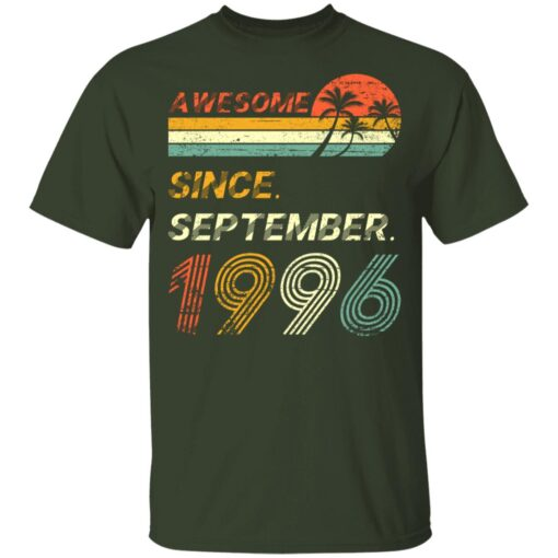 25th Birthday Vintage Awesome Since September 1996 25 Years T-Shirt T-Shirt 8 of Sapelle