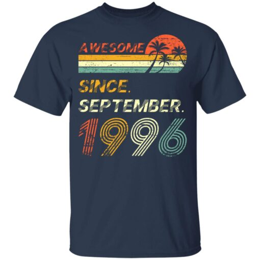 25th Birthday Vintage Awesome Since September 1996 25 Years T-Shirt T-Shirt 10 of Sapelle