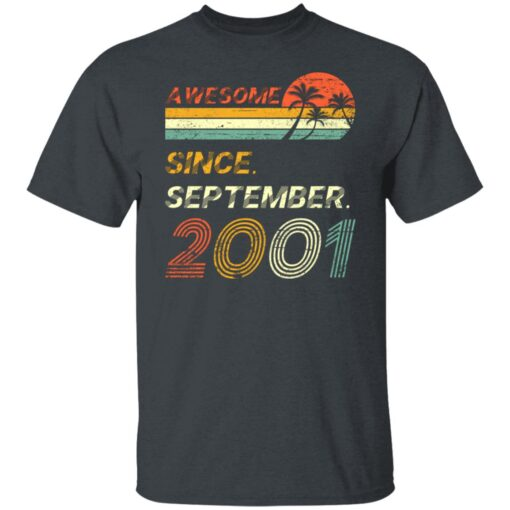 Gift 20 Years Old Awesome Since September 2001 20th Birthday T-Shirt 2 of Sapelle