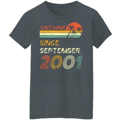 Gift 20 Years Old Awesome Since September 2001 20th Birthday T-Shirt 11 of Sapelle