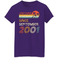 Gift 20 Years Old Awesome Since September 2001 20th Birthday T-Shirt 36 of Sapelle