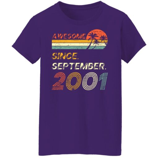 Gift 20 Years Old Awesome Since September 2001 20th Birthday T-Shirt 13 of Sapelle