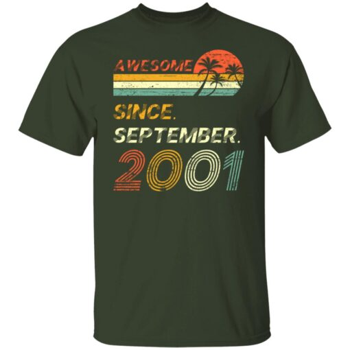 Gift 20 Years Old Awesome Since September 2001 20th Birthday T-Shirt 3 of Sapelle
