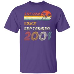 Gift 20 Years Old Awesome Since September 2001 20th Birthday T-Shirt 20 of Sapelle