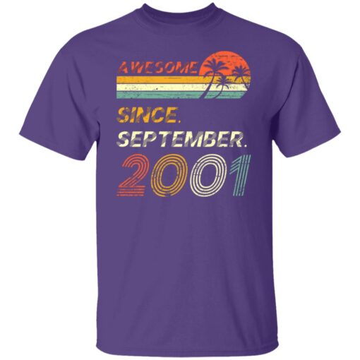 Gift 20 Years Old Awesome Since September 2001 20th Birthday T-Shirt 5 of Sapelle