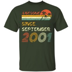 Gift 20 Years Old Awesome Since September 2001 20th Birthday T-Shirt 24 of Sapelle