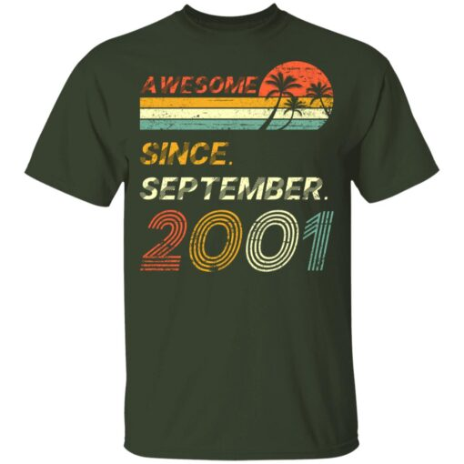 Gift 20 Years Old Awesome Since September 2001 20th Birthday T-Shirt 7 of Sapelle