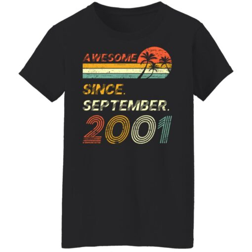 Gift 20 Years Old Awesome Since September 2001 20th Birthday T-Shirt 10 of Sapelle