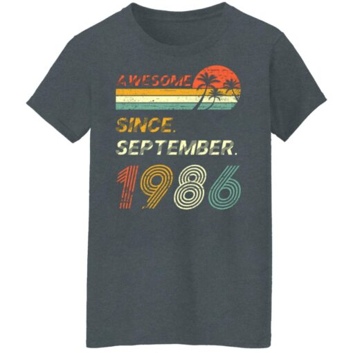 Gift 35 Years Old Awesome Since September 1986 35th Birthday T-Shirt 11 of Sapelle