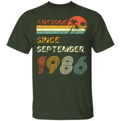Gift 35 Years Old Awesome Since September 1986 35th Birthday T-Shirt 25 of Sapelle