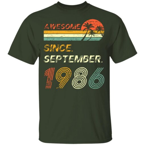 Gift 35 Years Old Awesome Since September 1986 35th Birthday T-Shirt 7 of Sapelle
