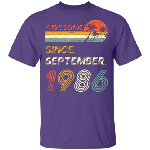Gift 35 Years Old Awesome Since September 1986 35th Birthday T-Shirt 9 of Sapelle