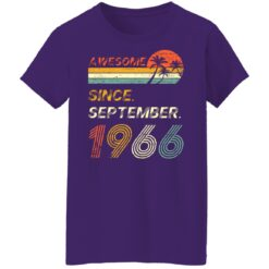Gift 55 Years Old Awesome Since September 1966 55th Birthday T-Shirt 39 of Sapelle