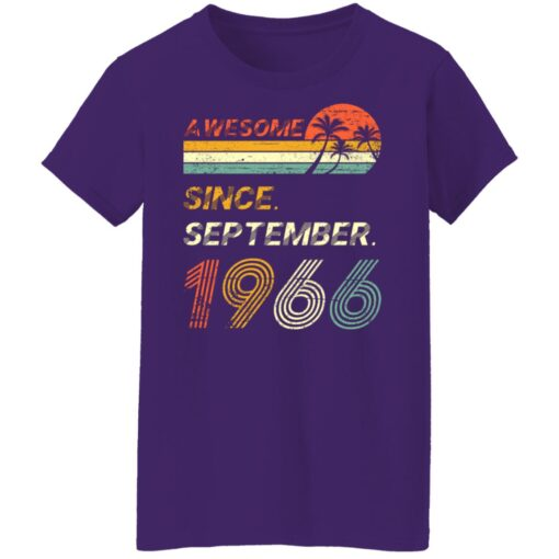 Gift 55 Years Old Awesome Since September 1966 55th Birthday T-Shirt 14 of Sapelle