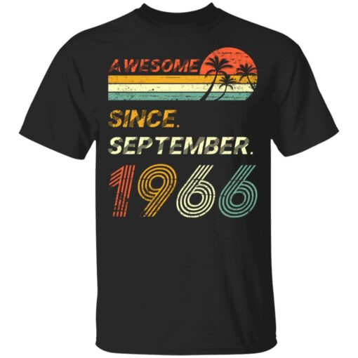 Gift 55 Years Old Awesome Since September 1966 55th Birthday T-Shirt 6 of Sapelle