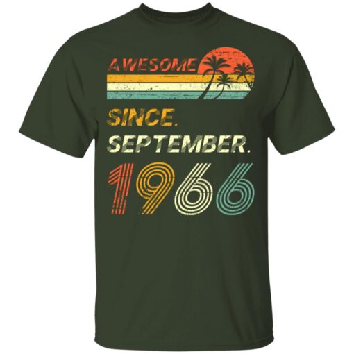 Gift 55 Years Old Awesome Since September 1966 55th Birthday T-Shirt 7 of Sapelle