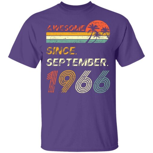 Gift 55 Years Old Awesome Since September 1966 55th Birthday T-Shirt 9 of Sapelle