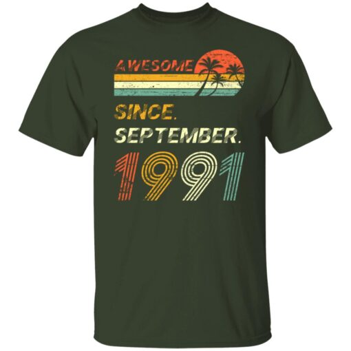 Gift 30 Years Old Awesome Since September 1991 30th Birthday T-Shirt 3 of Sapelle