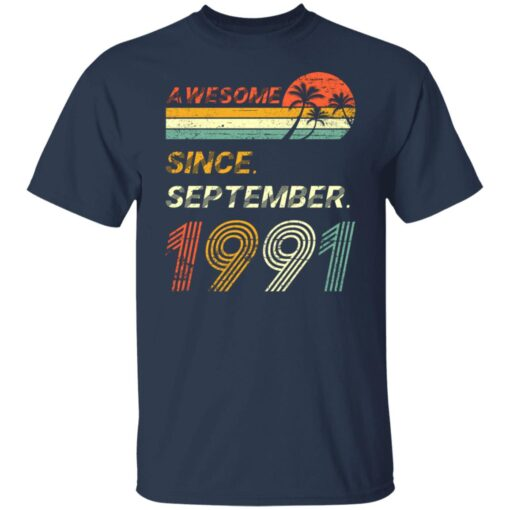 Gift 30 Years Old Awesome Since September 1991 30th Birthday T-Shirt 4 of Sapelle