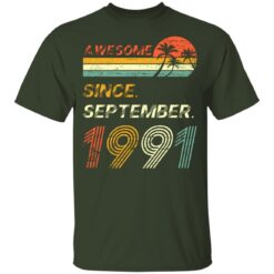 Gift 30 Years Old Awesome Since September 1991 30th Birthday T-Shirt 24 of Sapelle