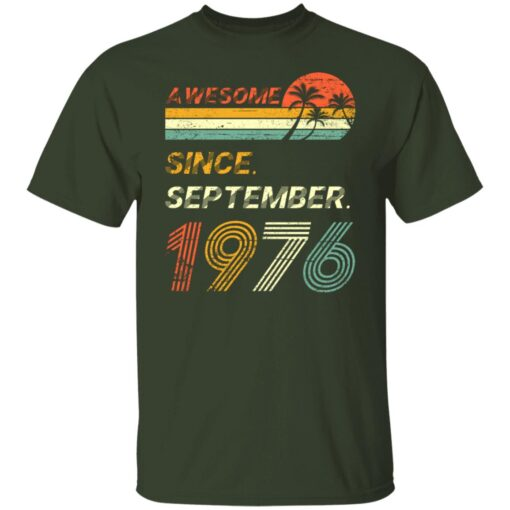 Gift 45 Years Old Awesome Since September 1976 45th Birthday T-Shirt 2 of Sapelle