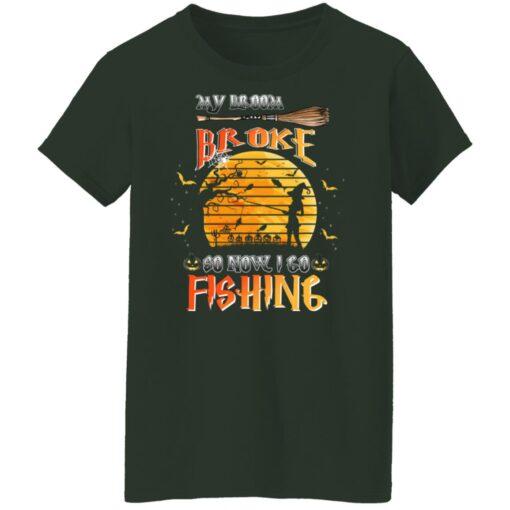My Broom Broke So Now I Go Fishing Funny Halloween Costume T-Shirt 11 of Sapelle