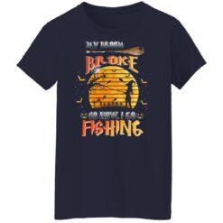 My Broom Broke So Now I Go Fishing Funny Halloween Costume T-Shirt 34 of Sapelle