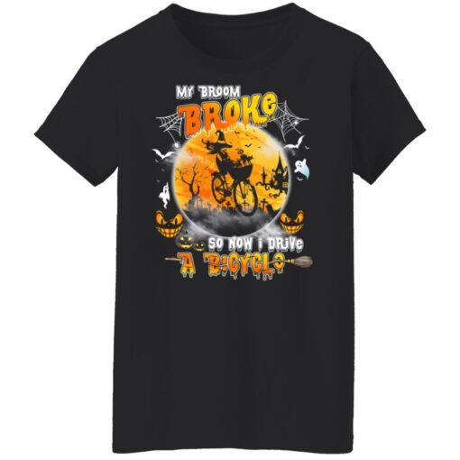 My Broom Broke So Now I Drive A Bicycle Halloween Costume T-Shirt 11 of Sapelle