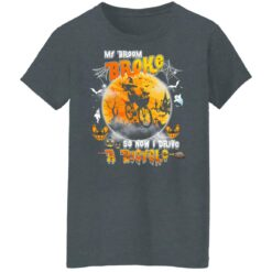 My Broom Broke So Now I Drive A Bicycle Halloween Costume T-Shirt 36 of Sapelle