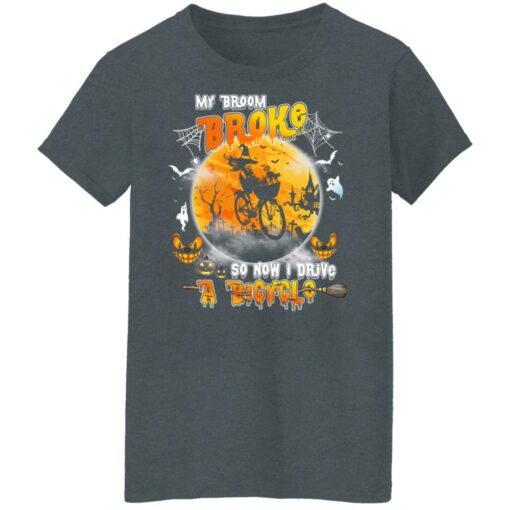 My Broom Broke So Now I Drive A Bicycle Halloween Costume T-Shirt 12 of Sapelle