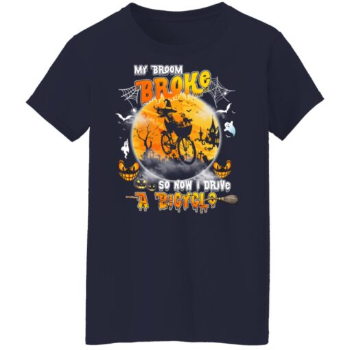 My Broom Broke So Now I Drive A Bicycle Halloween Costume T-Shirt 13 of Sapelle