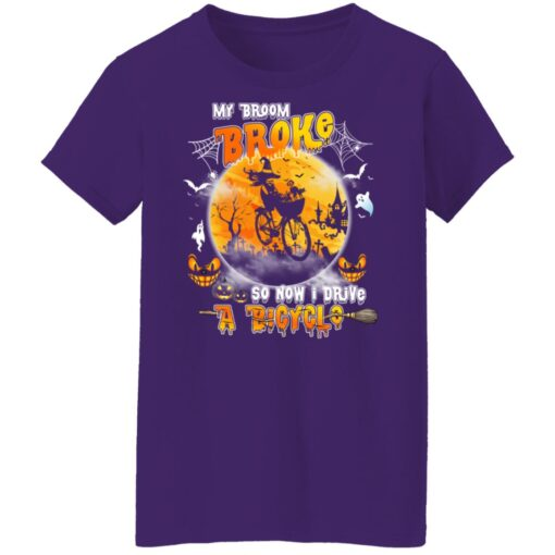 My Broom Broke So Now I Drive A Bicycle Halloween Costume T-Shirt 14 of Sapelle