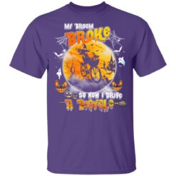 My Broom Broke So Now I Drive A Bicycle Halloween Costume T-Shirt 30 of Sapelle