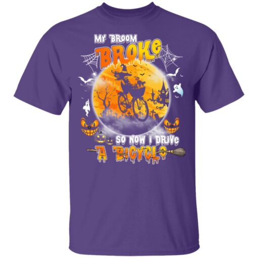 My Broom Broke So Now I Drive A Bicycle Halloween Costume T-Shirt 9 of Sapelle