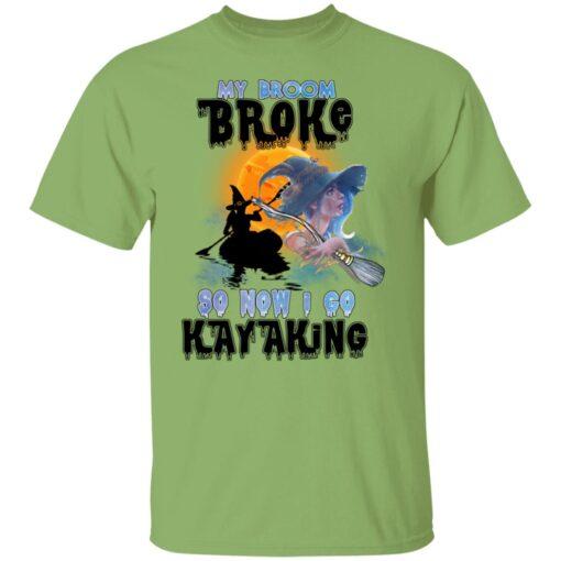 My Broom Broke So Now I Go Kayaking Funny Halloween Costume T-Shirt 2 of Sapelle