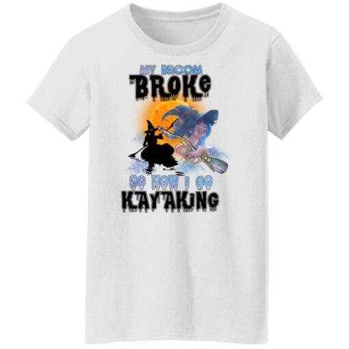 My Broom Broke So Now I Go Kayaking Funny Halloween Costume T-Shirt 12 of Sapelle