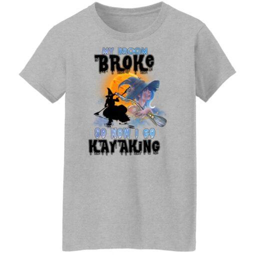 My Broom Broke So Now I Go Kayaking Funny Halloween Costume T-Shirt 16 of Sapelle