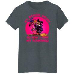 My Broom Broke So Now I Ride My Flamingo Halloween Costume T-Shirt 42 of Sapelle