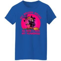 My Broom Broke So Now I Ride My Flamingo Halloween Costume T-Shirt 48 of Sapelle