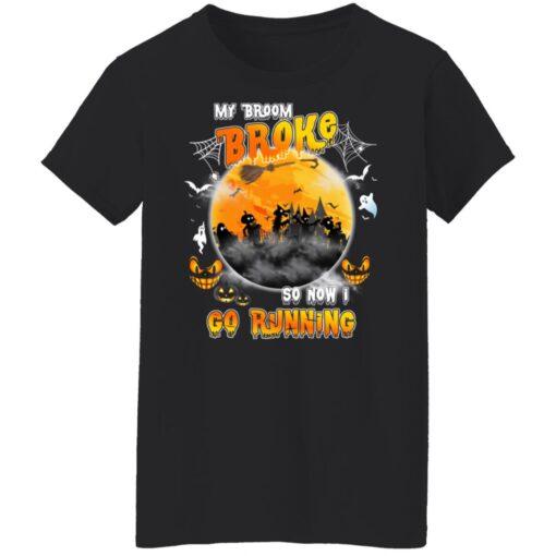 My Broom Broke So Now I Go Running Funny Halloween Costume T-Shirt 12 of Sapelle
