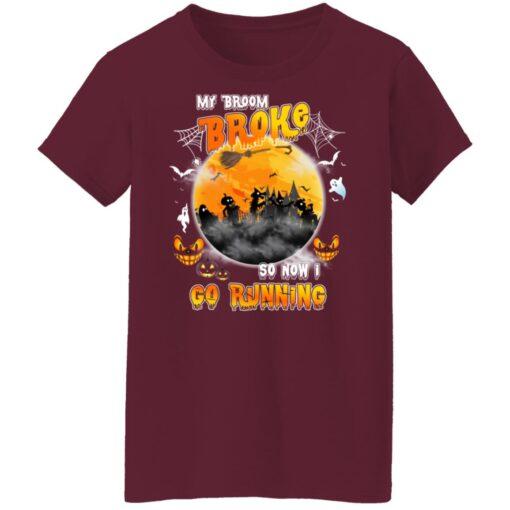 My Broom Broke So Now I Go Running Funny Halloween Costume T-Shirt 14 of Sapelle