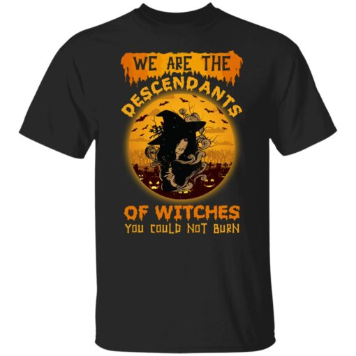 We Are The Descendants Of Witches You Could Not Burn Womens T-Shirt 1 of Sapelle