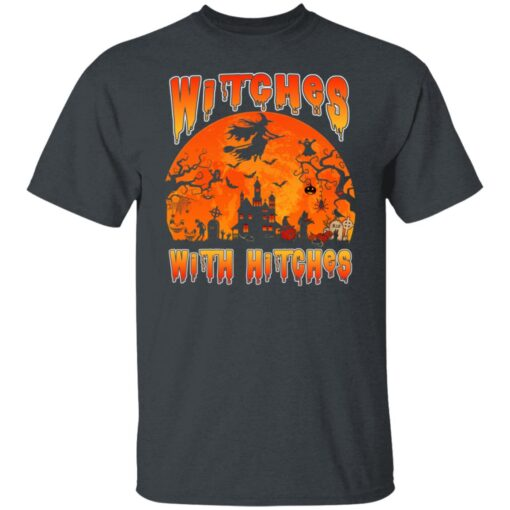 Womens Witches With Hitches Witch Funny Halloween Costume T-Shirt 2 of Sapelle