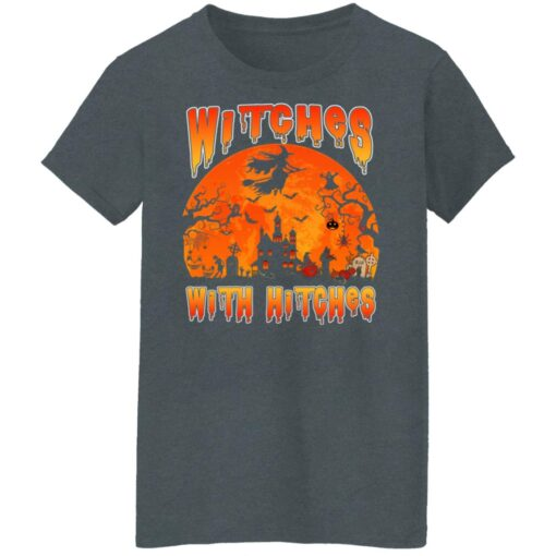 Womens Witches With Hitches Witch Funny Halloween Costume T-Shirt 11 of Sapelle