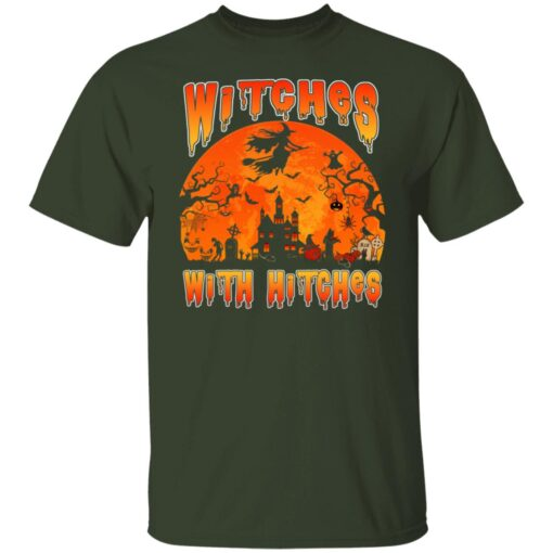 Womens Witches With Hitches Witch Funny Halloween Costume T-Shirt 3 of Sapelle